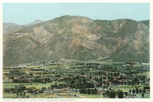 Vintage Overview of Pasadena, California