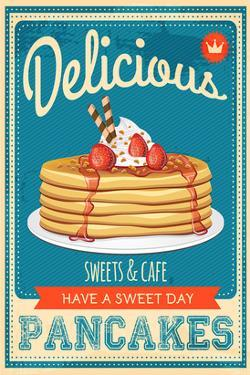 Vintage Pancakes Sign