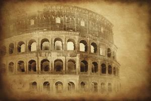 Vintage Photo of Coliseum in Rome, Italy