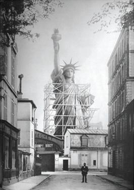 Statue of Liberty in Paris, 1886 by Vintage Photography