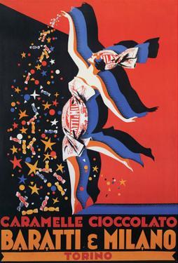 Vintage Poster Advertising Chocolate