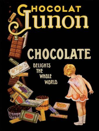 Vintage Poster Advertising Chocolate