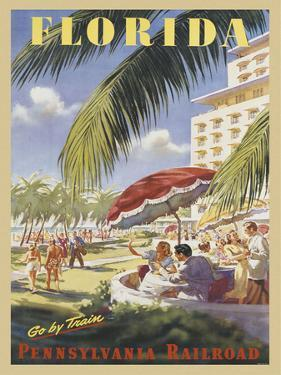 Florida Go by Train by Vintage Poster