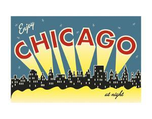 Chicago skyline by Vintage Reproduction