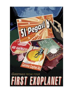 First Exoplanet by Vintage Reproduction