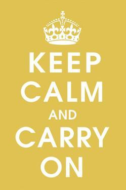 Keep Calm (mustard) by Vintage Reproduction