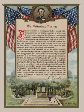 The Gettysburg Address by Vintage Reproduction