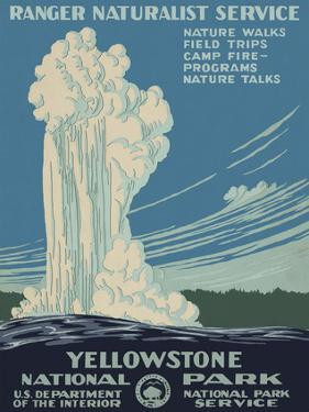 Yellowstone National Park by Vintage Reproduction