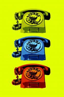 Vintage Rotary Telephone Pop Plastic Sign