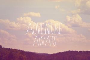 Adventure Awaits I by Vintage Skies