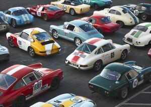 Vintage sport cars at Grand Prix, Nurburgring