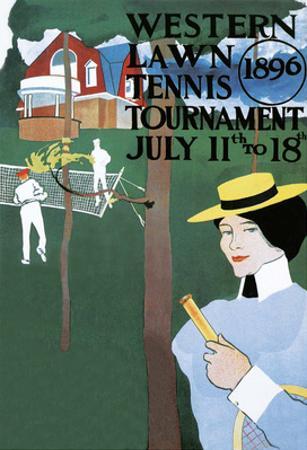 Vintage Tennis Poster, 1896