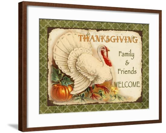 Vintage Thanksgiving-A-Jean Plout-Framed Giclee Print