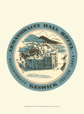 Vintage Travel Label VI