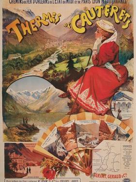 Vintage Travel Poster for Cauterets, France