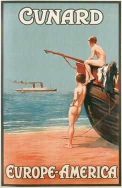 Vintage Travel Poster for Cunard Line