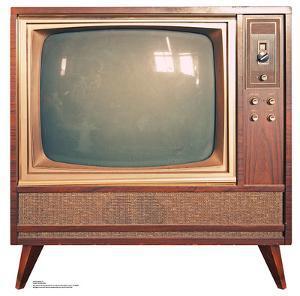Vintage TV Lifesize Cardboard Cutout