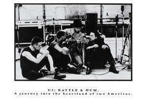 Vintage U2 Poster Rattle & Hum B&W Music Poster Print