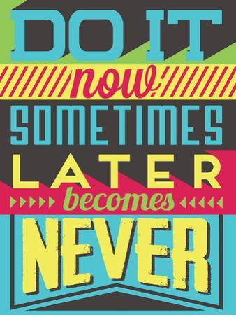 Do it Now by Vintage Vector Studio