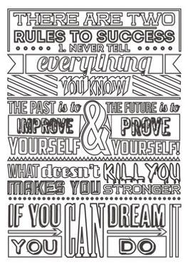 Success Set White by Vintage Vector Studio