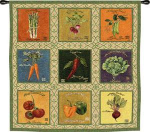 Vintage Veggies Tapestry