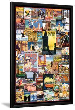 Vintage World Travel Ads Collage