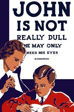 Vintage Wpa Propaganda Poster Featuring a Teacher and Young Boy Reading