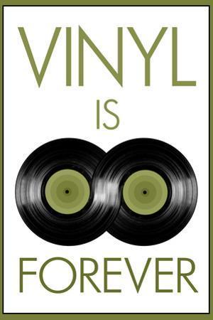 Vinyl is Forever Music Plastic Sign