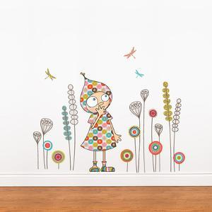 Violette's garden Wall Decal