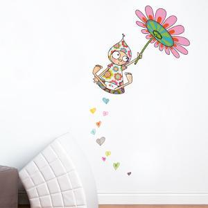Violette Takes Flight Wall Decal