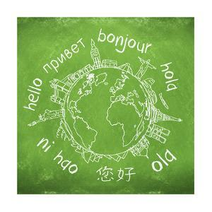 Say Hello Around The World. Hello Translated In A Few International Languages by Viorel Sima