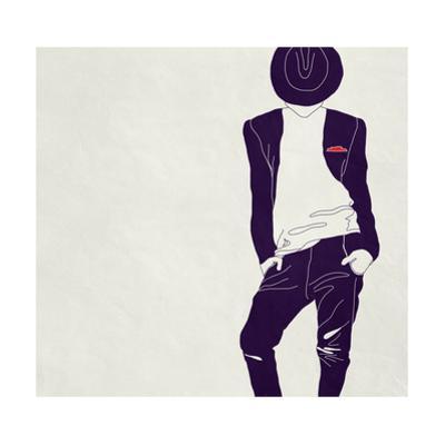 Stylish Man,, Black and White