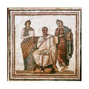 Virgil and the Muses, Roman Mosaic from Sousse, Tunisia, 3rd Century Ad