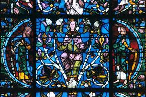 Virgin and Prophets, Stained Glass, Chartres Cathedral, France, 1194-1260