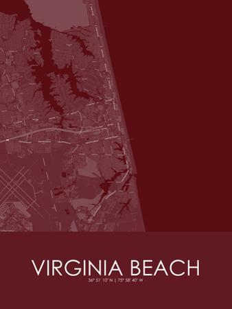 Virginia Beach, United States of America Red Map