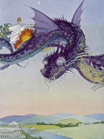 The Sorceress Medea Flies Through the Greek Airspace in Her Serpent-Powered Chariot by Virginia Frances Sterrett