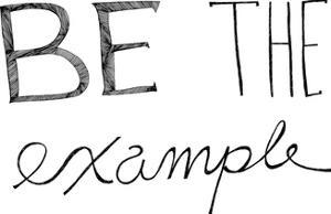 Be The Example by Virginia Kraljevic