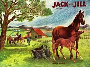 Horses - Jack and Jill, June 1946 by Virginia Mann