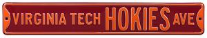 Virginia Tech Hokies Ave Steel Sign
