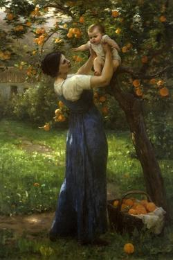 Mother and Child in an Orange Grove by Virginie Demont-Breton