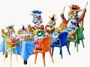 Brer Rabbit's Christmas Meal by Virginio Livraghi