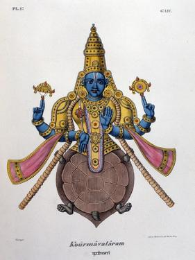 Vishnu, One of the Gods of the Hindu Trinity (Trimurt), 1828