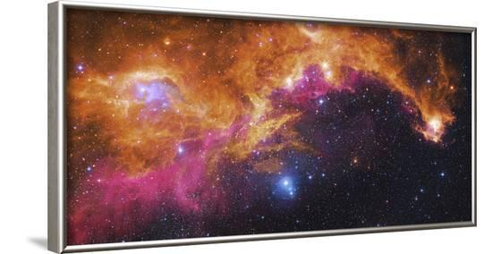 Visible Light-Infrared Composite of Ic 2177, the Seagull Nebula-Stocktrek Images-Framed Photographic Print