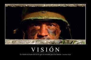 Visión. Cita Inspiradora Y Póster Motivacional