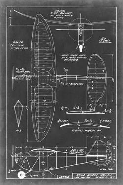 Aeronautic Blueprint I by Vision Studio