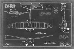 Aeronautic Blueprint VI by Vision Studio