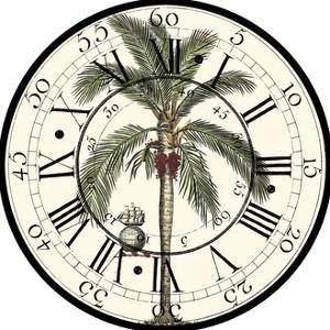 Antique Palm Clock by Vision Studio