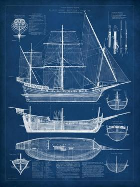 Antique Ship Blueprint I by Vision Studio