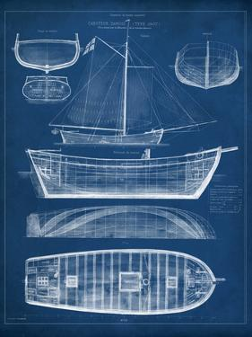 Antique Ship Blueprint II by Vision Studio