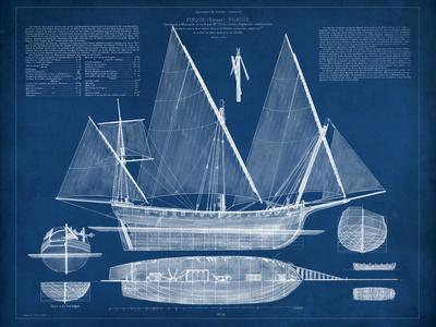 Antique Ship Blueprint III